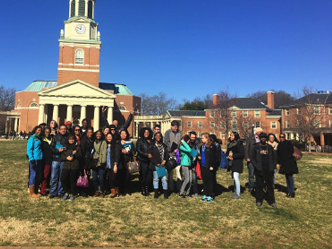 College LAUNCH students explore Wake Forest University.