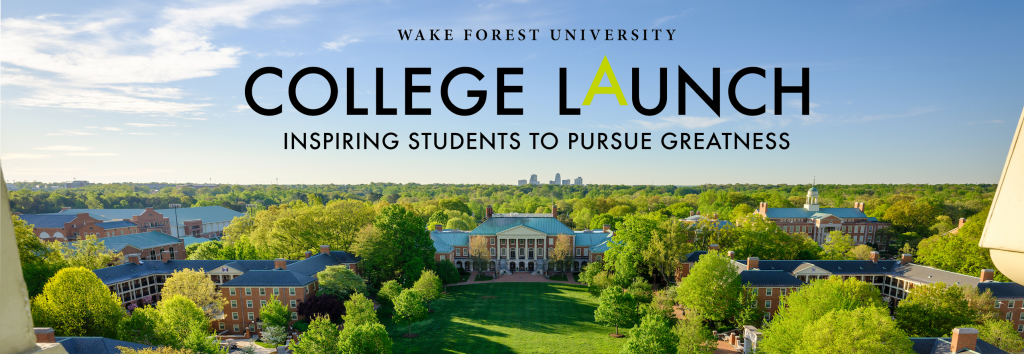 College LAUNCH Header with WFU Campus