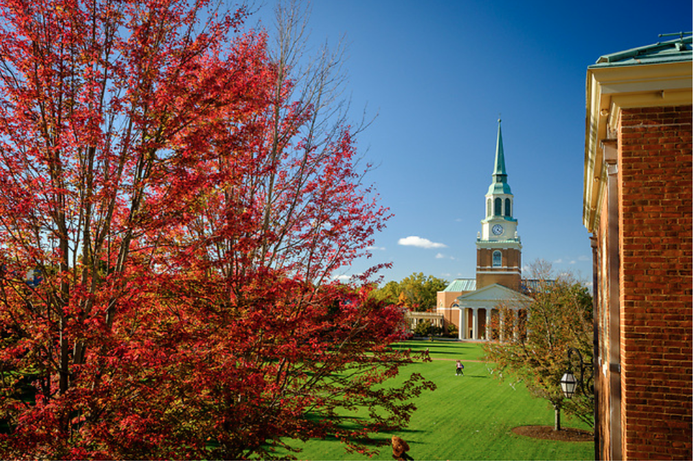 Wake Forest University Campus in the Fall