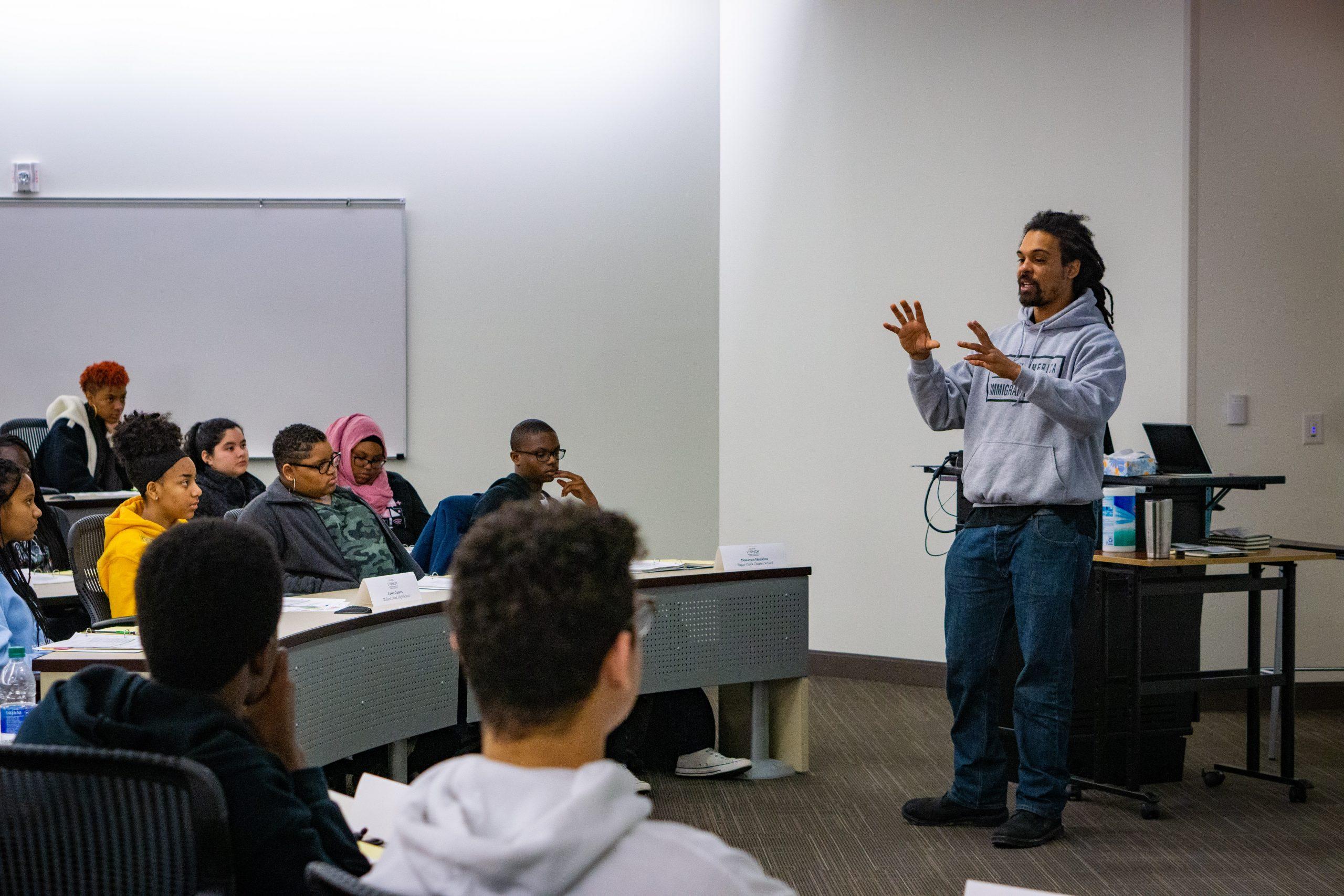 Braxton Winston Talking to Scholars