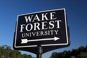 Wake Forest Arrow Sign