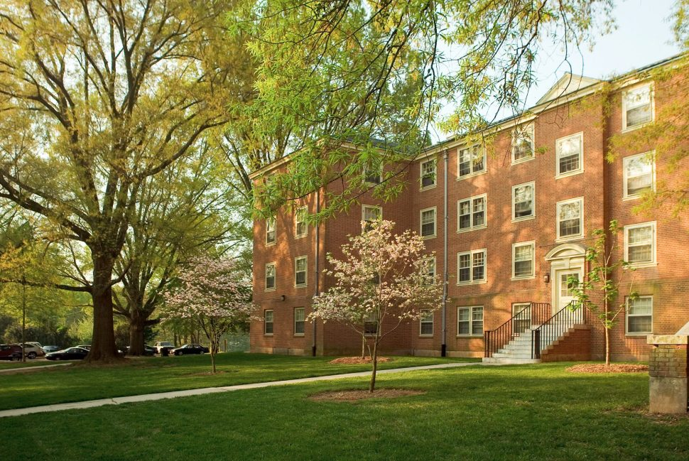 Side Entry of Bostwick Residence Hall