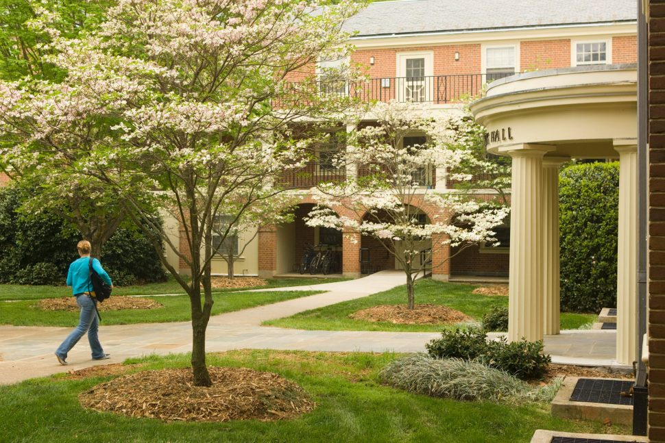 Student Entering Bostwick Residence Hall