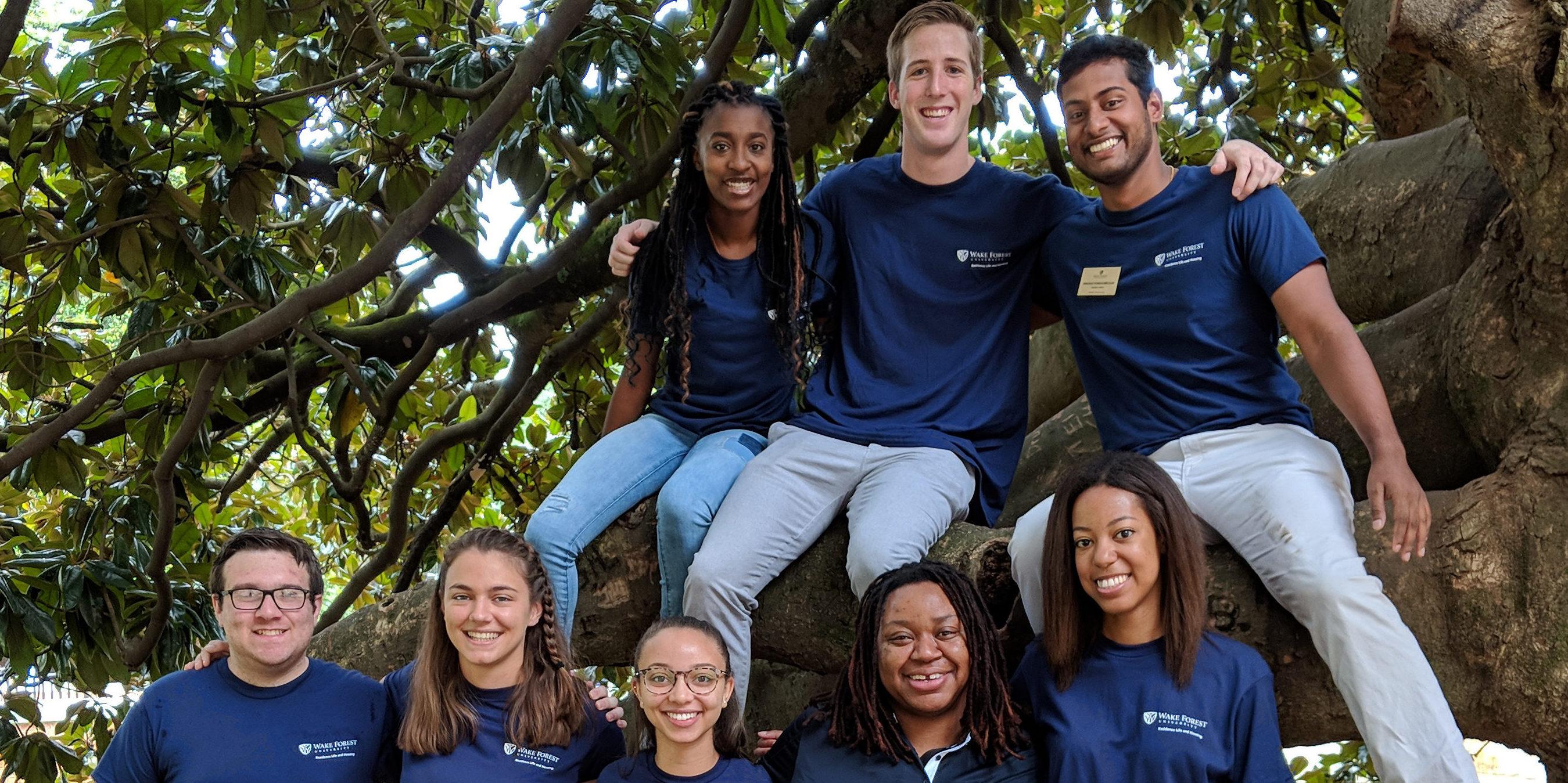 2018-19 Poteat and Huffman Halls Staff Group Photo