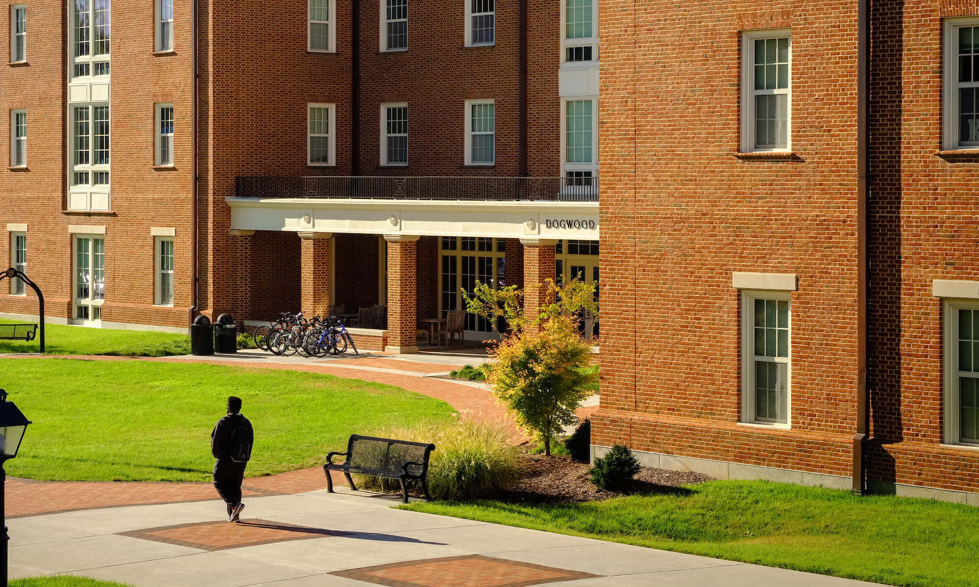 Courtyard view of Dogwood Residence Hall