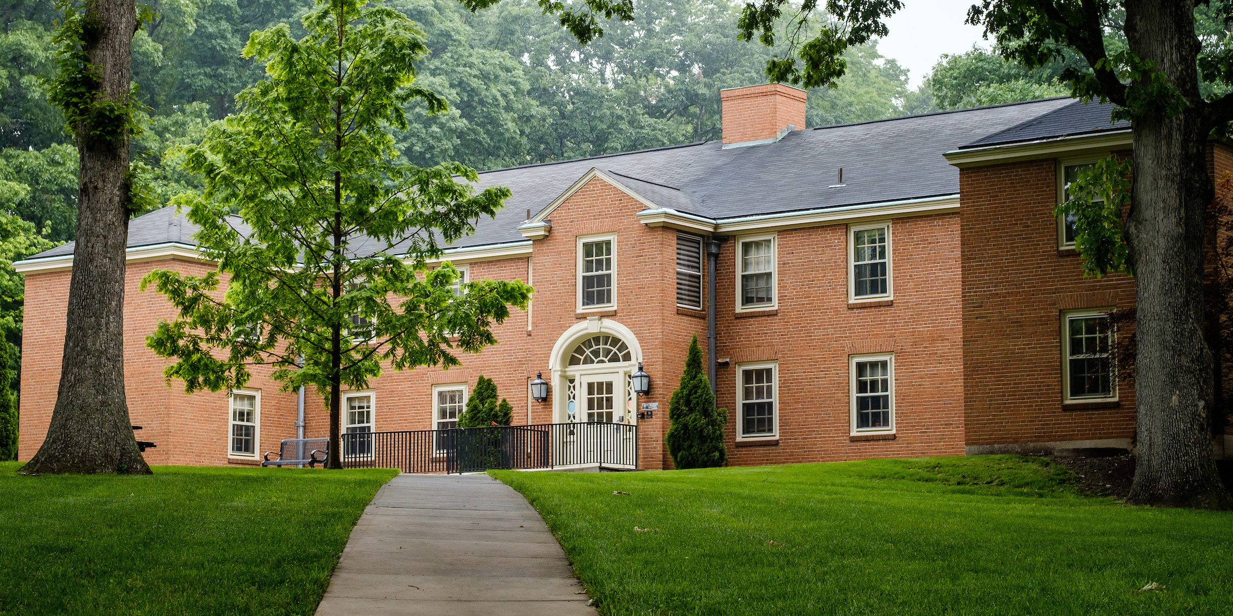 Exterior photo of North Campus Apartment Building