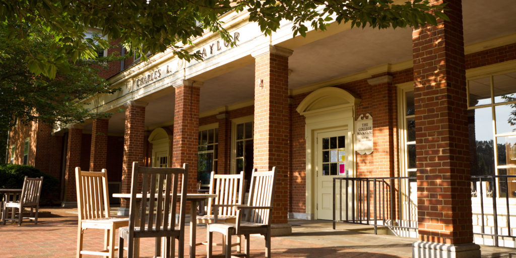Bookstore entrance in Taylor residence Hall