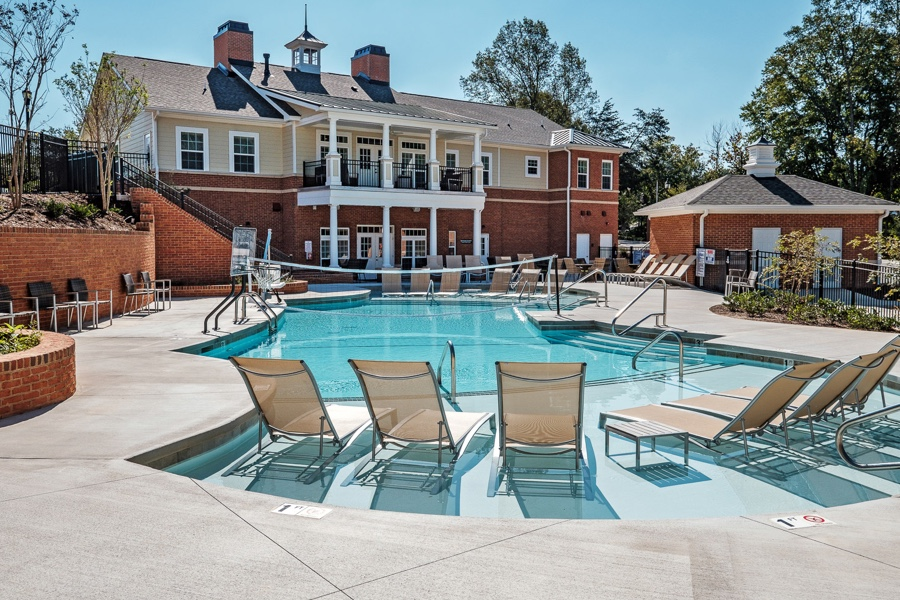 Pool outside of the clubhouse at Deacon Place housing
