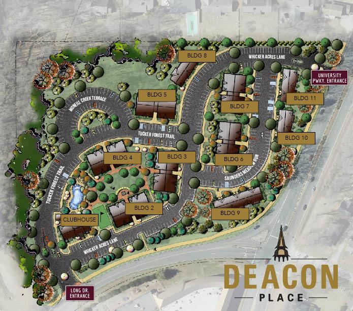 Deacon Place Site Map