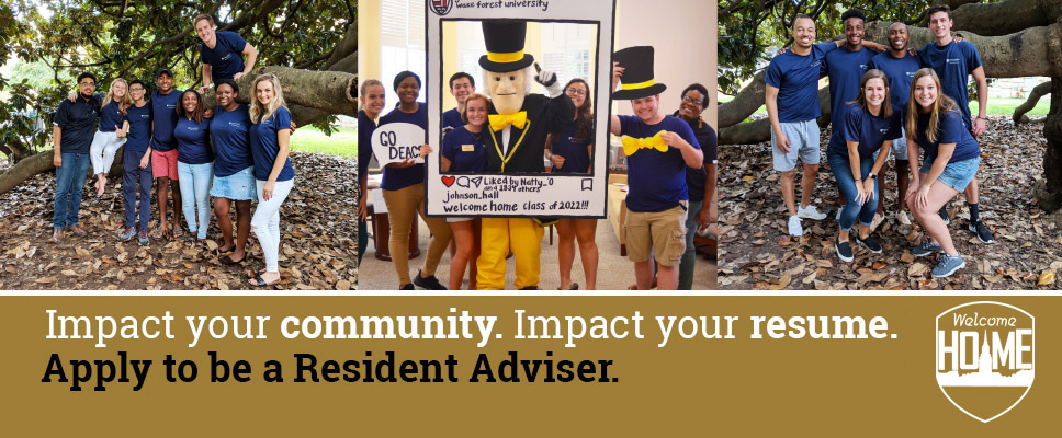 Banner advertisement for Resident Adviser application process