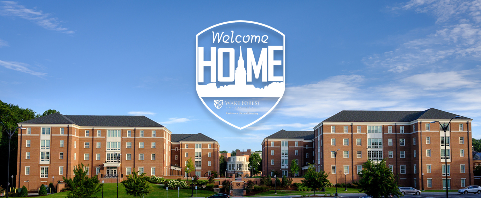 Welcome Home over Dogwood and Magnolia Halls
