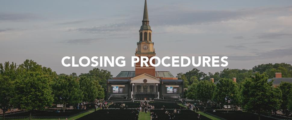 Closing Procedures Banner Image