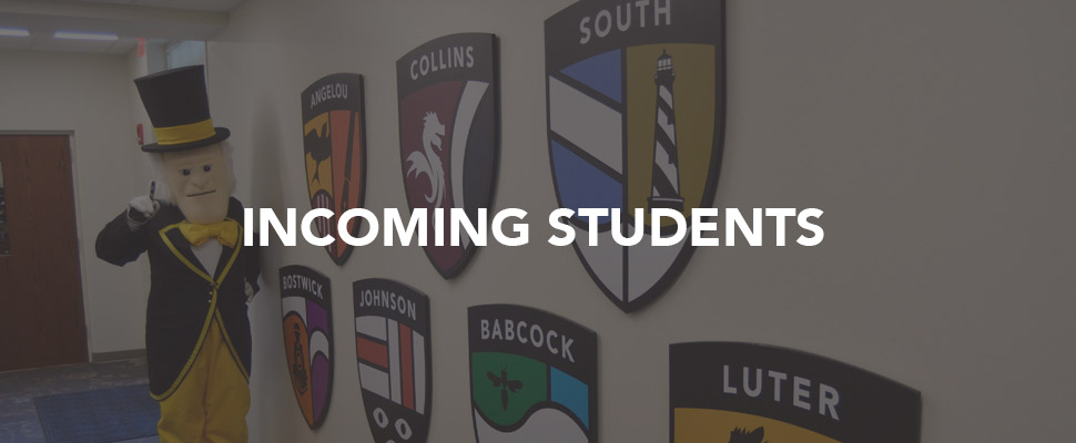 Incoming Students Banner Image