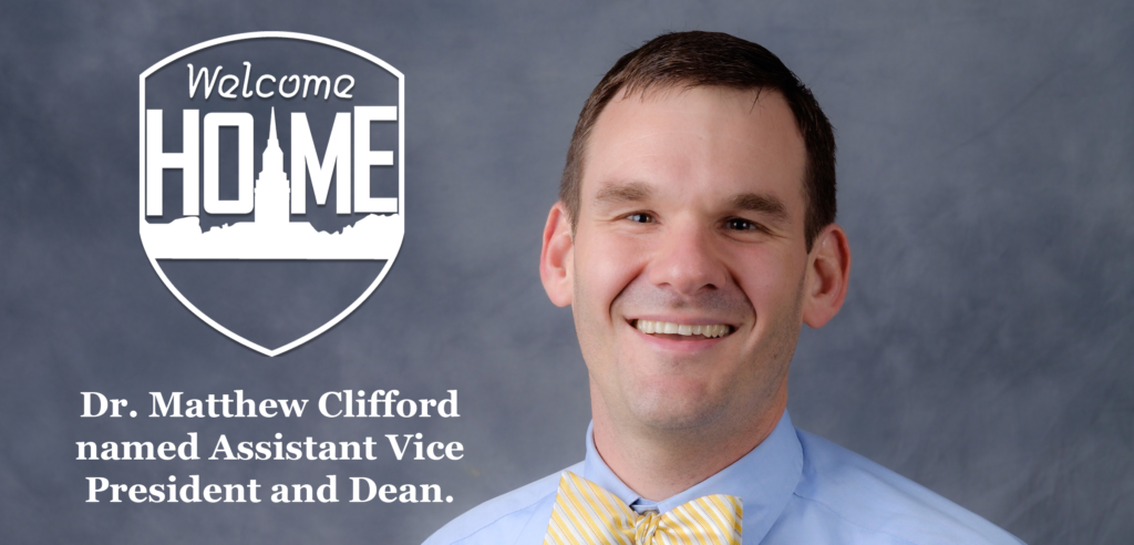 Dr. Clifford named Assistant Vice President and Dean.