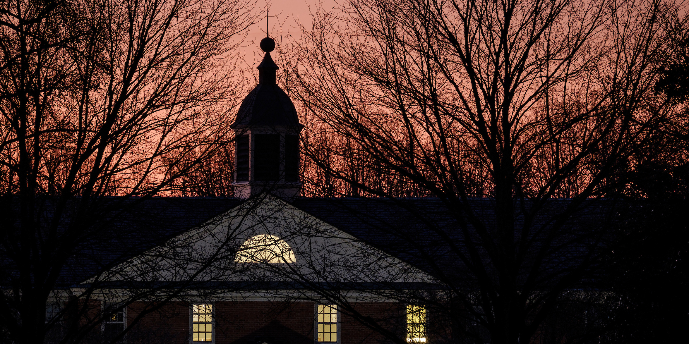 The cupola of Collins Residence Hall