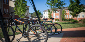 Bike Rack in the courtyard of Deacon Place Apartment Complex
