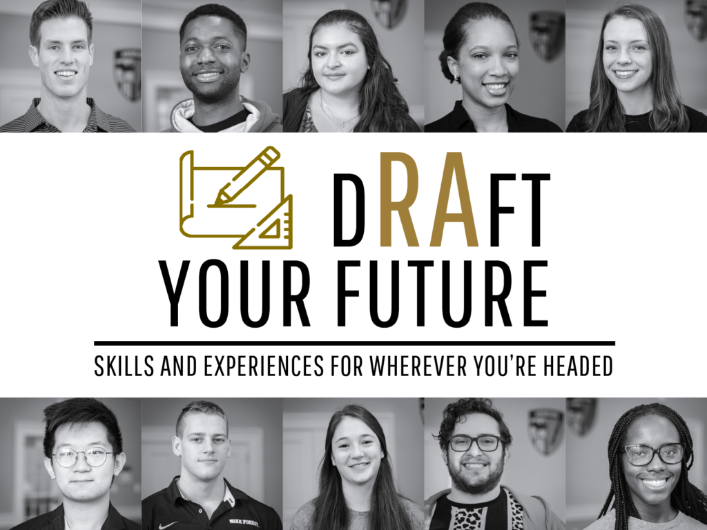 Draft Your Future Logo with RA Photos