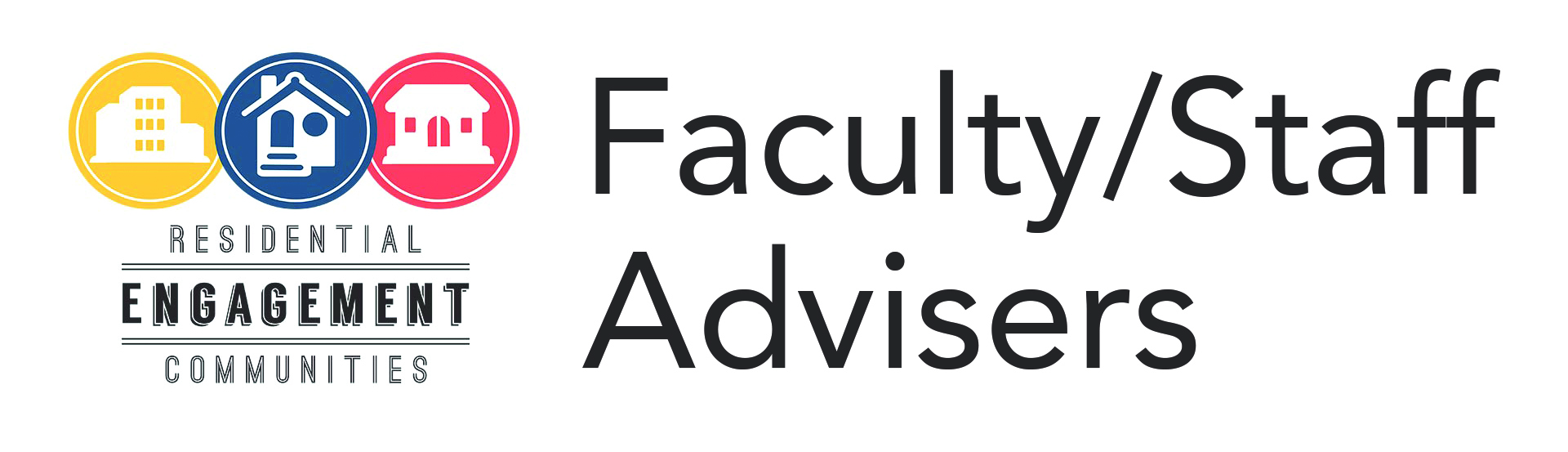 Faculty/Staff Advisers Logo Heading