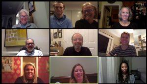 Screen shot of 10 participants in a Virtual C2C