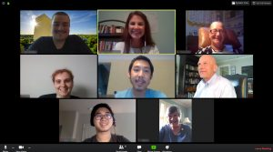 Screenshot of 8 participants in a Virtual C2C on Zoom