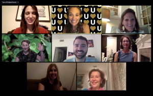 Screenshot group photo of participants in a virtual Call to Conversation