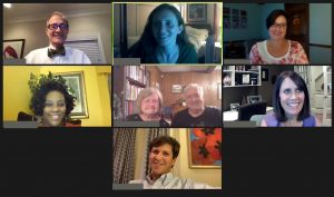 Screenshot group photo of 8 people in a Virtual C2C