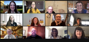 Screenshot group photo of participants in a virtual C2C