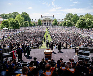 WFU Graduation on Hearn Plaza