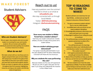 SA Tips for Success and Reasons to become a WFU Deacon!