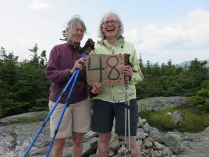 Gail has hiked all 48 Four Thousand Footers in New Hampshire with friend, Ruth Neagle.