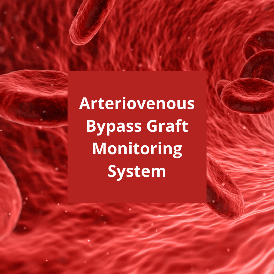 Arteriovenous bypass graft monitoring system