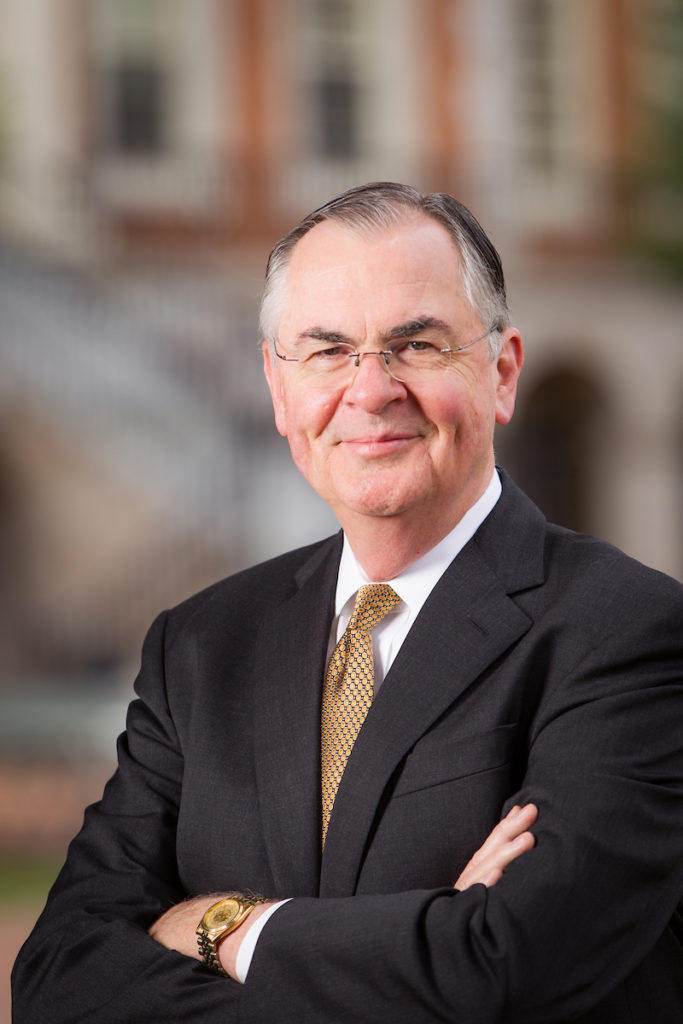 Wake Forest President Nathan O. Hatch poses on Hearn Plaza on Friday, August 16, 2013.