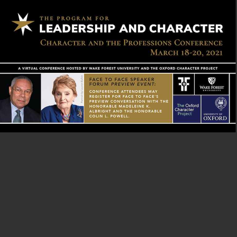 """Character and the Professions"" Conference Draws Over 2,300 Registrants"