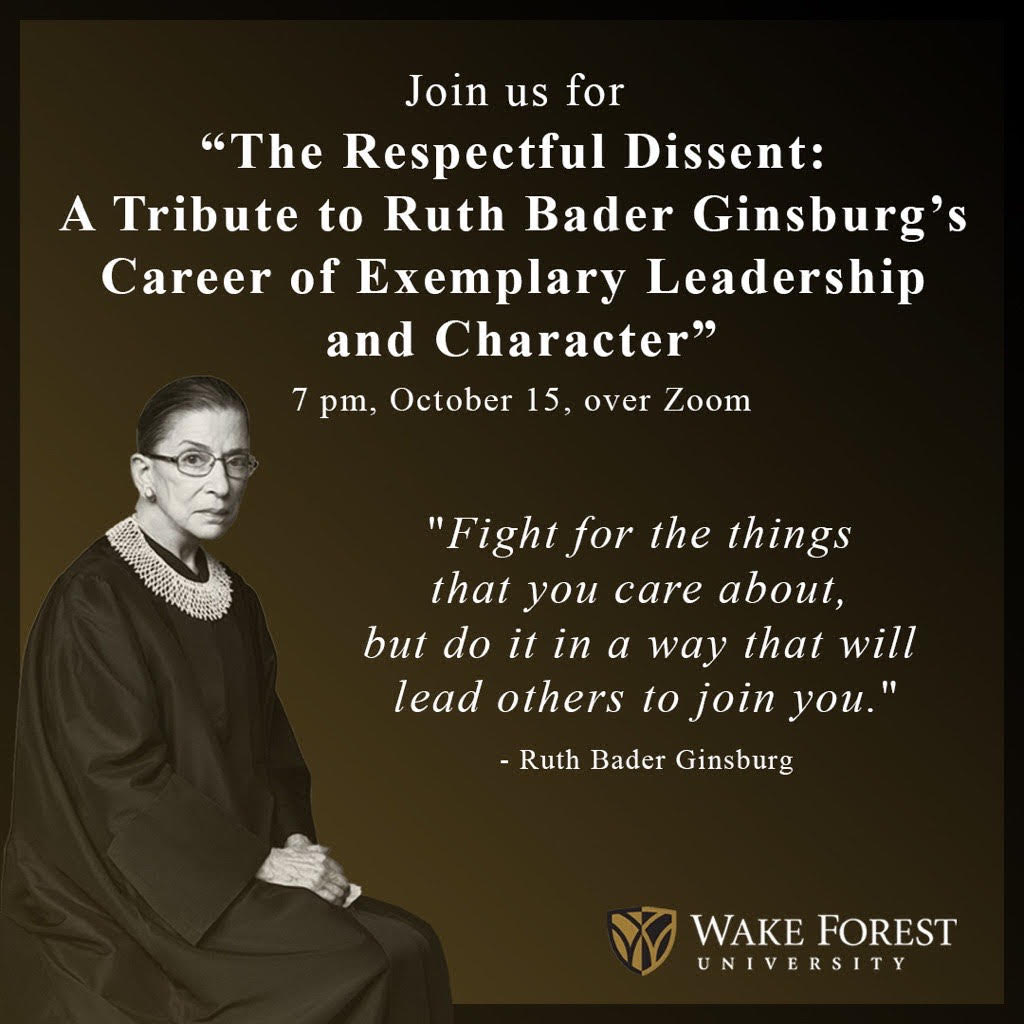 """The Respectful Dissent"": Honoring the Legacy of Ruth Bader Ginsburg"