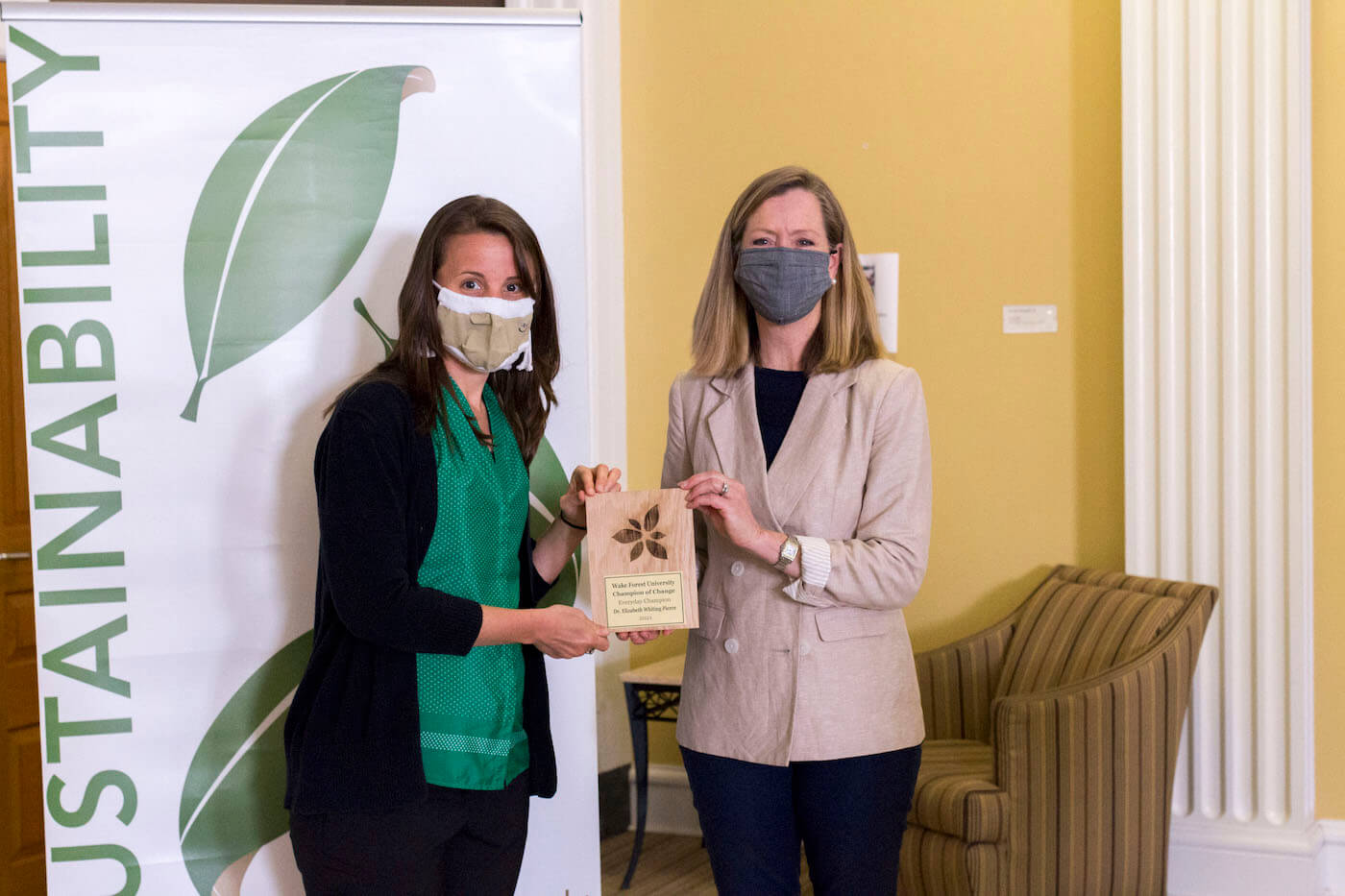 Dr. Elizabeth Whiting Pierce Receives Sustainability Award