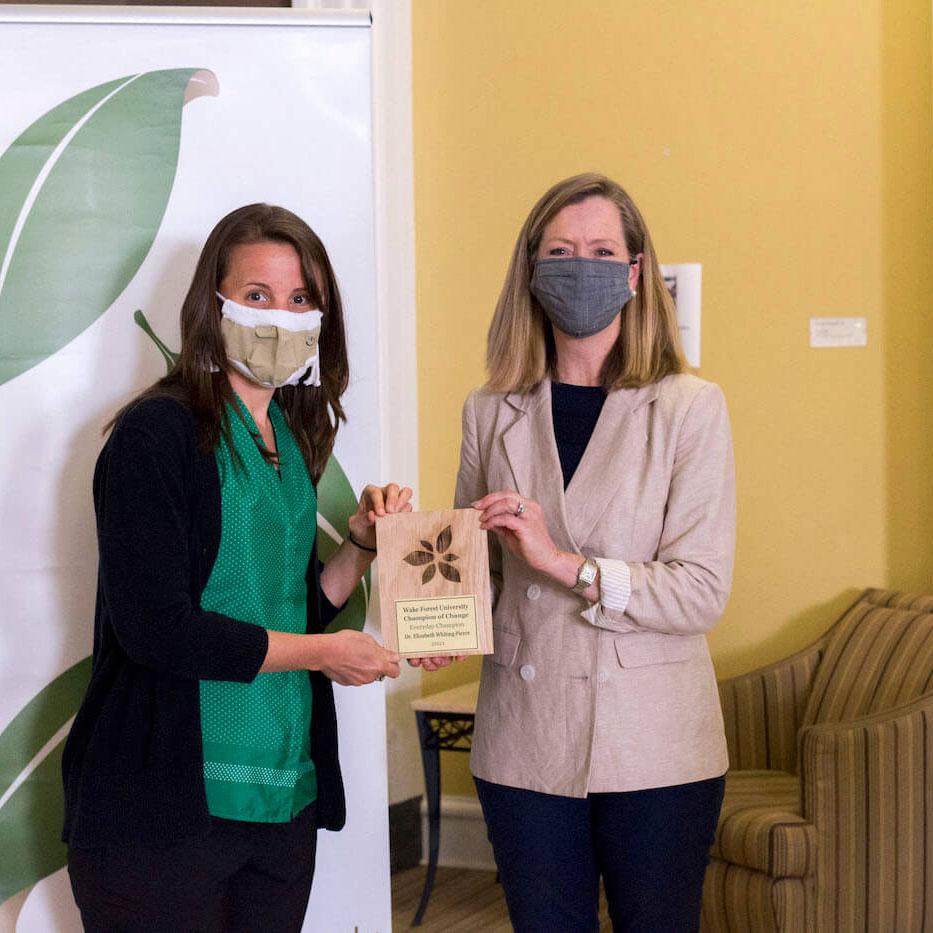 Dr. Elizabeth Whiting Pierce Receives Sustainability Award