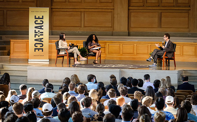 Leadership and Character Scholars get face-to-face with Malcolm Gladwell