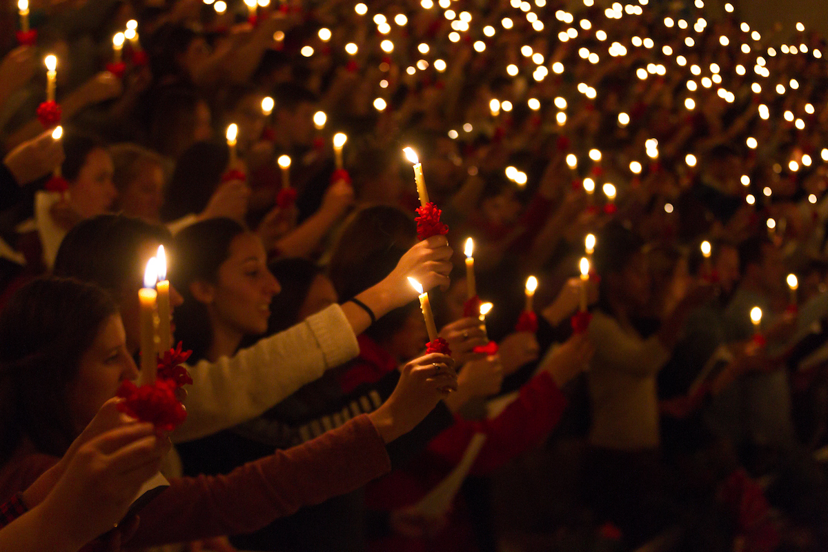 Evening Love Feast at Wake Forest University  Sunday, December 3, 2017.
