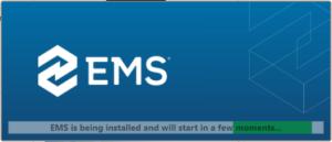 EMS client installing window
