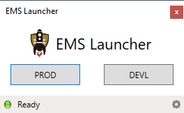 EMS Launcher window