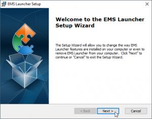 EMS Installer window