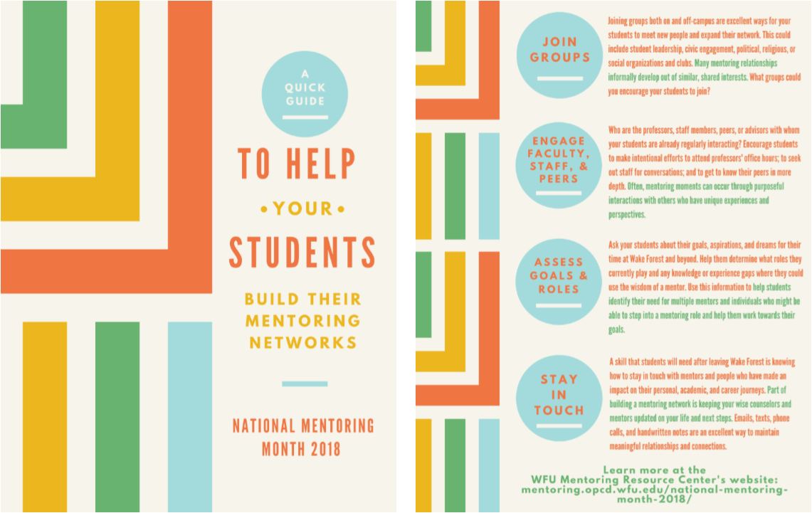 Thumbnail image of the Quick Guide to Helping Your Students Build Their Mentoring Networks