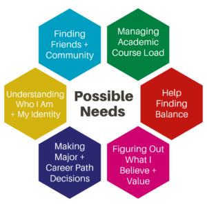 Possible needs of students chart