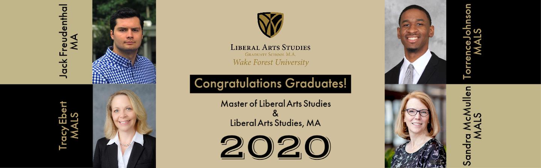 MALS & LIberal Arts Studies MA 2020 Graduates