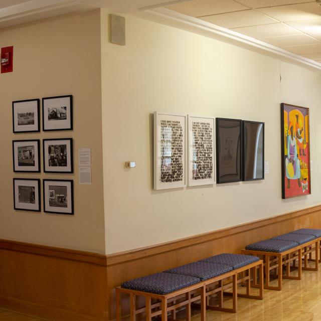 Artwork displayed