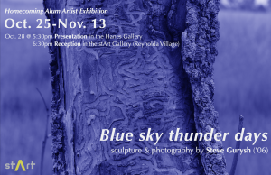 "Steve Gurysh ('06) ""Blue sky thunder days"" stArt Homecoming Reception"