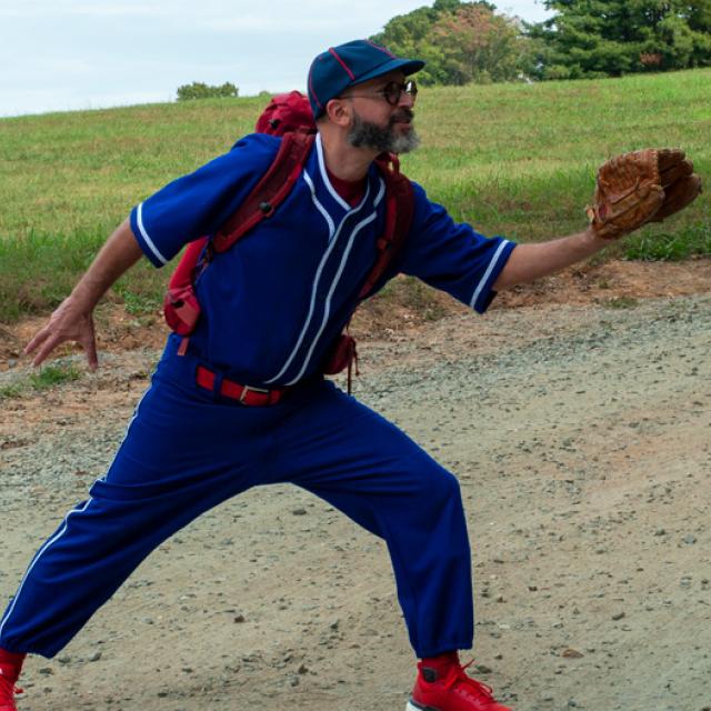 Joel Tauber playing baseball
