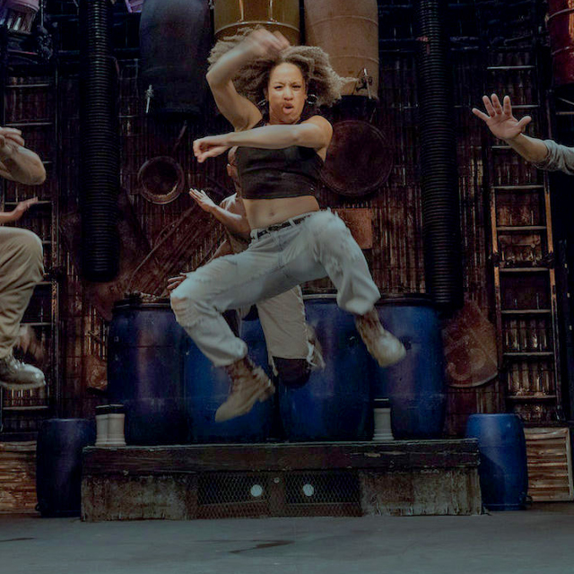 Bri Butler ('14) dazzles on the Broadway stage in STOMP.