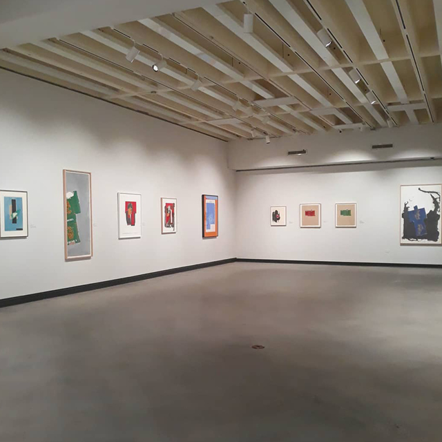 Motherwell Show at Hanes Gallery