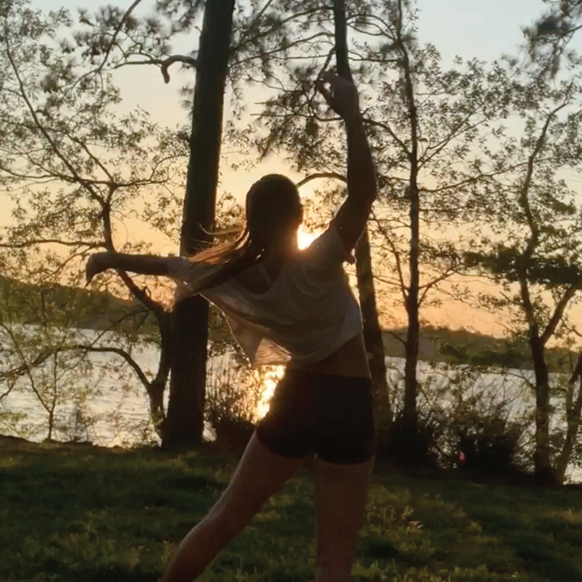 Dancer outdoors